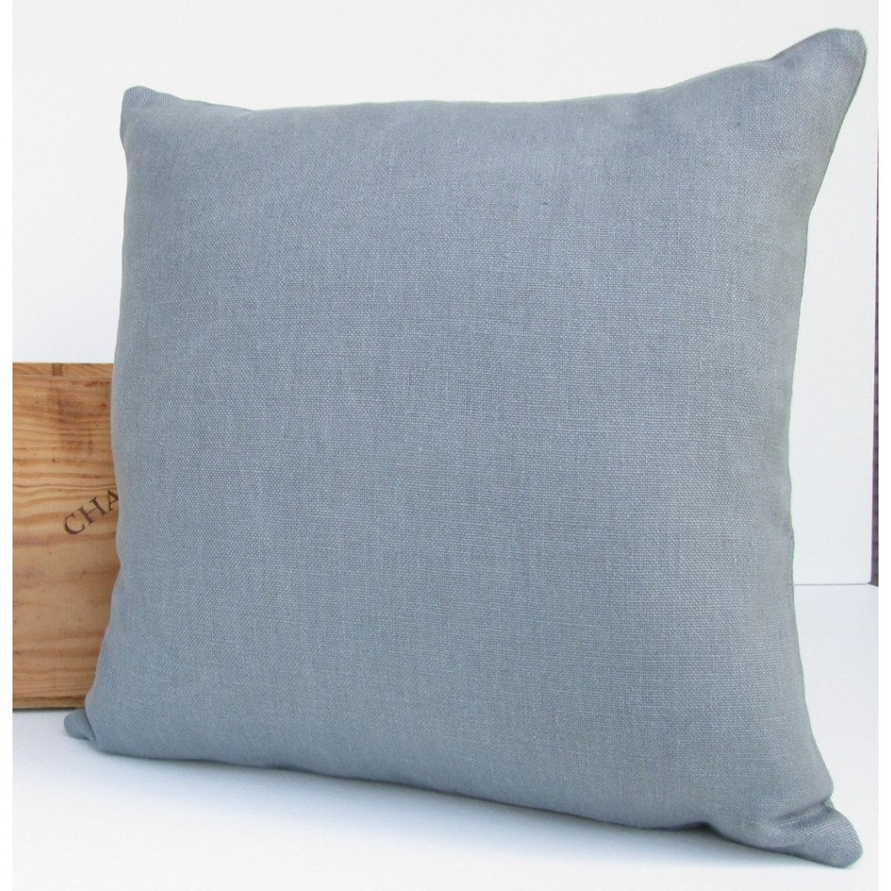 Proper Stuff Linen Throw Pillow ~ Moonlight Grey