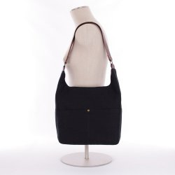 ID Classic Linen Hobo Bag in Midnight Black with Magnetic Closure