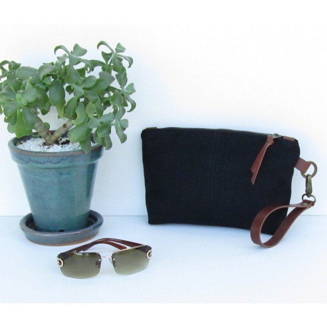 ID Premium Linen Clutches with Detachable Leather Straps