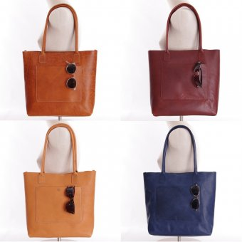 ID #1019 All Leather Tote Bag