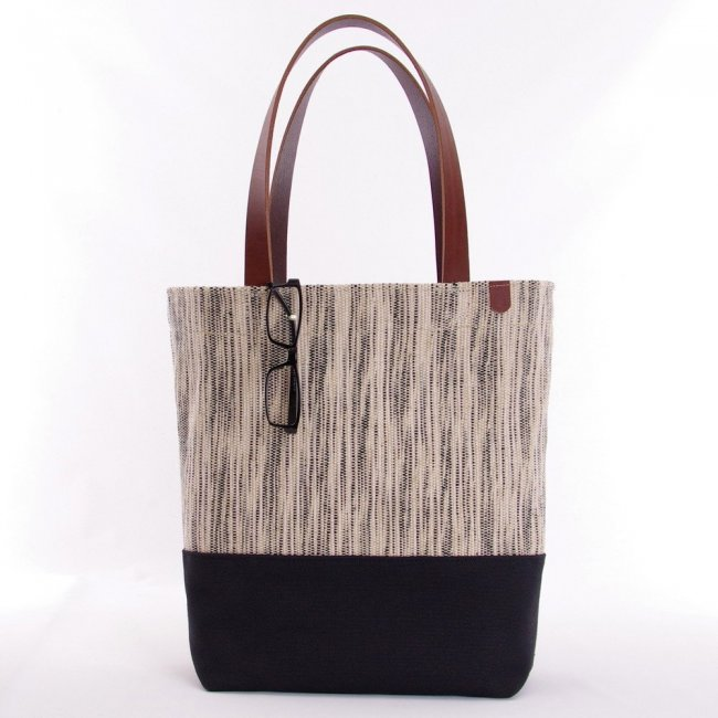 Manhattan Jute and Canvas Tote Bag with Cotton Lining