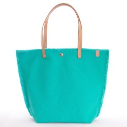 Havana Fringed Cyan Green Canvas Tote